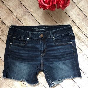 American Eagle Outfitters Midi Style Denim Shorts